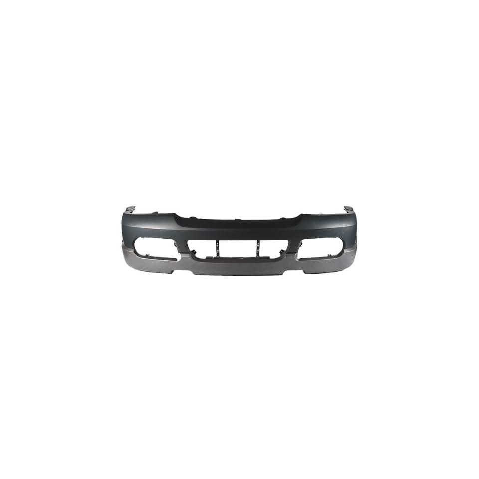 CarPartsDepot, Primed Facial Plastic Front Bumper Cover w/ Molding Hole Replacement, 352 18499 10 FO1003114 1L2Z17D957PAB??
