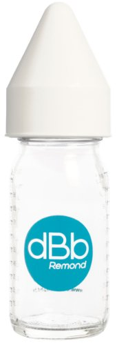 dBb-Remond Régul'Air 120005 Fruit Juice Feeding Bottle Glass with Rubber Suction Teat for Newborns and White Lid