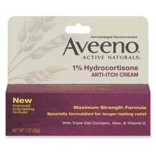 Aveeno 1% Hydrocortisone Anti-Itch Cream, 1 oz