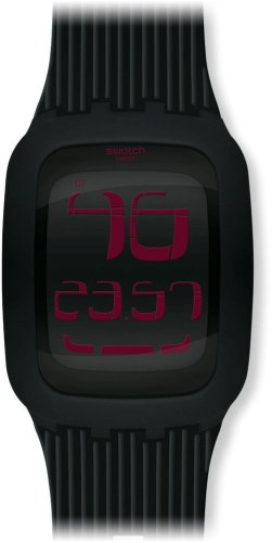 Swatch Touch Black Pink Digital Mens Watch SURB102 (Swatch Watch Digital compare prices)