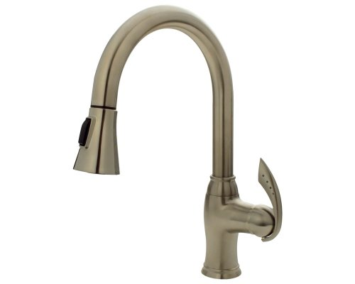 Mr Direct 772-Bn Brushed Nickel Pull Down Kitchen Faucet