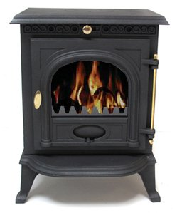 Vortigern 5.5kW CAST IRON WOODBURNING MULTIFUEL STOVE V14 - genuine CE certificate issued in the UK.