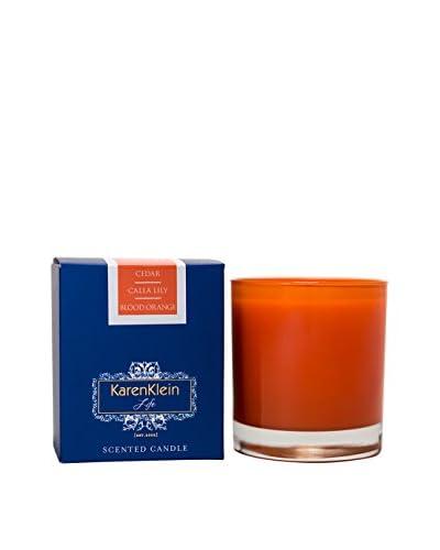 Karen Klein Life Florentine 10.25-Oz. Solid Candle, Cedar/Calla Lily