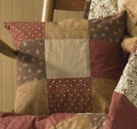 Grandma's Quilt Quilted Throw Pillow