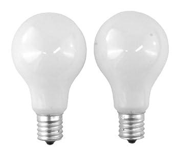 SYLVANIA 40-Watt A15 -White- Ceiling Fan Bulbs - Intermdiate Base 2-Pack X22078