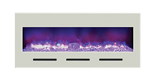 Amantii Fire & Ice Series Built-In Flush Mount Electric Fireplace, 50-Inch