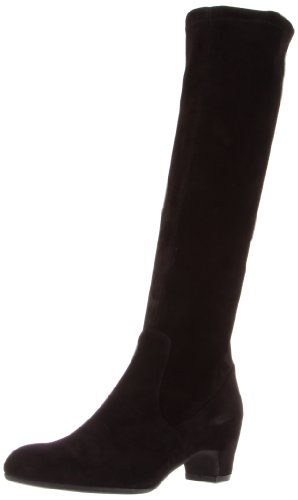 Rev Rue du Jour Women's Davos Knee-High Boot, Nero Suede/Stretch, 41 EU/11 M US