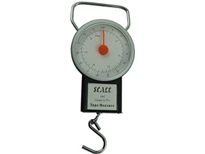 - Luggage Travel Scales - 1M Tape Measure 32Kg / 75LB Limit - Weighing Luggage Scales - Accurate Weight - Helps Avoid Airline Excess Weight Charges - ON SALE