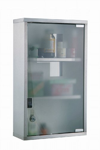 XL Stainless Steel Medicine Cabinet with Three Units 45 cm
