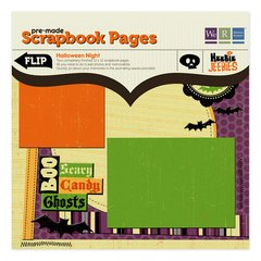 Halloween Night Pre-Made Scrapbook Pages | Heebie Jeebies by We R