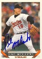 Bob Milacki Baltimore Orioles 1993 Topps Autographed Hand Signed Trading Card. by Hall of Fame Memorabilia