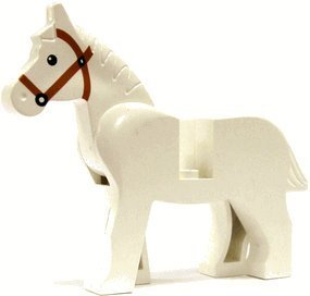 Horse (White) - LEGO Animal Minifigure - 1