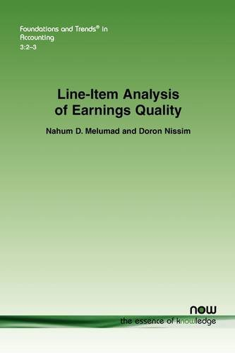 Line-Item Analysis of Earnings Quality (Foundations and Trends in Accounting)