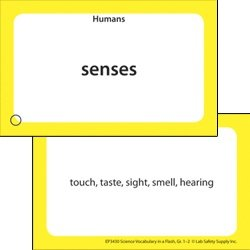 Science Vocabulary in a FlashTM Color-Coded Flash Cards, Grades 1-2 - 1