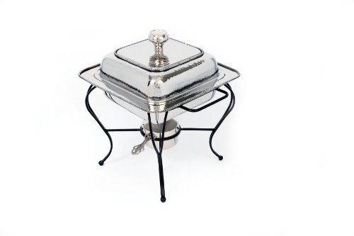 Star Home 2-Quart Square Stainless Steel Chafing Dish