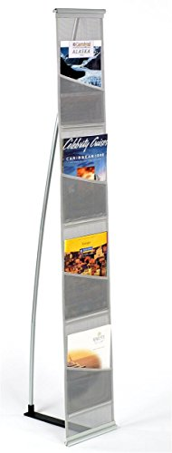 Displays2go Magazine Stand, Rolls Up and Is Portable, 54-Inch Tall (MSQUTO4)