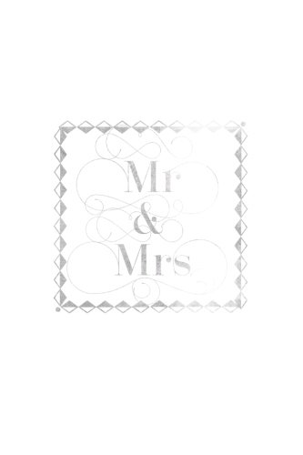 Mr & Mrs: Silver Stamp Wedding Organizer Notebook | Plan Your Wedding Nuptials & Future Together With Our Wedding coordination book | Bride to Be, ... Organizer with 100 pages | 6