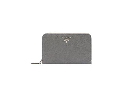 PRADA portafoglio lampo saffiano metal (marmo)