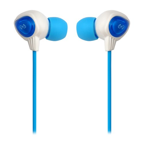 Pyle Pwp25W Waterproof Aqua Sport Headphones, White/Blue