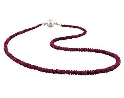 30 Carat All Natural Ruby Necklace with Magnetic Clasp