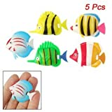 Aquarium Artificial Movable Tail Swimming Fish 5 Pcs