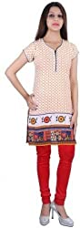 D-Nimes Women Cotton Half Sleeve Printed kurti