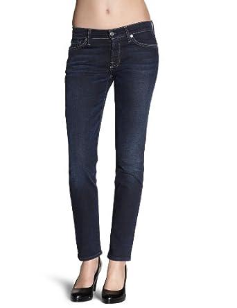 7 for all mankind Damen Jeans Normaler Bund, SWWD95NYD, Gr. 25, Blau (NYD)