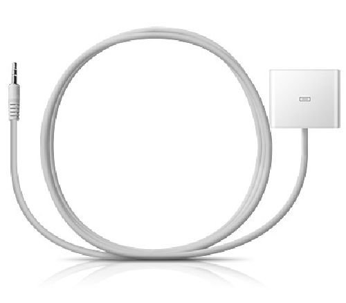 Atoz Deals Tm Package Deals! White 30 Pin To 3.5 Mm Auxiliary Converter For Music And 30 Pin To 8 Pin Adapter Cable For Data Sync Charging For Iphone 5, Bose Sounddock Ihome