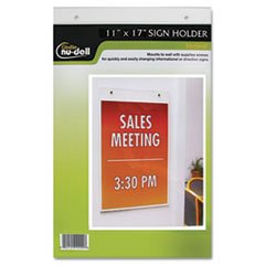 "Nudell 11"" X 17"" Portrait Wall Mount Plastic Sign Holder, Clear front-712029"