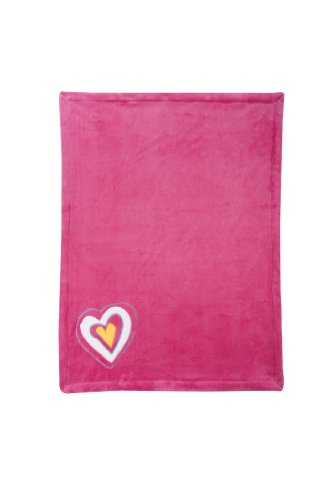 Zutano Embroidered Boa Blanket, Hearts - 1