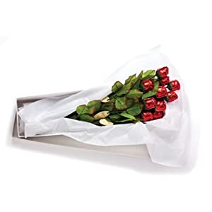 Chocolate Roses 19in Semi-Solid Premium Milk Gift Boxed Pkg/12