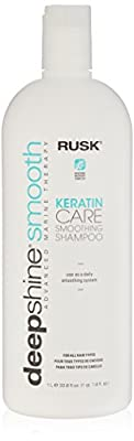 RUSK Deepshine Smooth Keratin Care Smoothing Shampoo, 33.8 fl. oz.