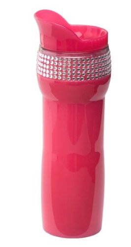 Pink Travel Coffee Tea Mug for Women The Best with Rhinestones & Bling