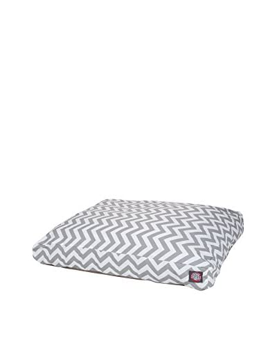 Chevron Small Rectangle Pet Bed, Grey