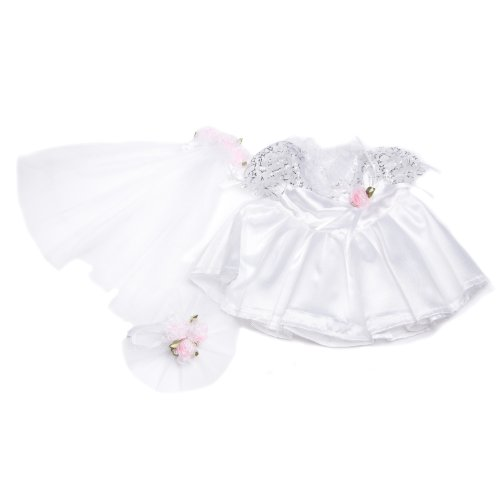 "Bride Outfit Teddy Bear Clothes Fit 14"" - 18"" Build-a-bear, Vermont Teddy Bears, and Make Your Own Stuffed Animals - 1"