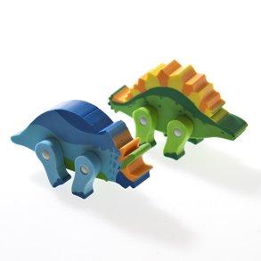 Movable Dinosaur Erasers