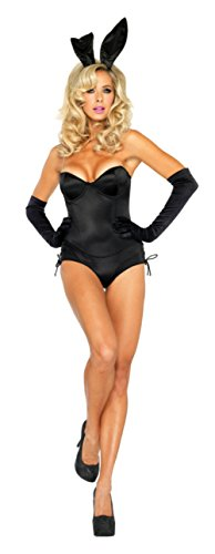Leg Avenue Womens Animals Bunny Sexy Black Adults Theme Party Halloween Costume
