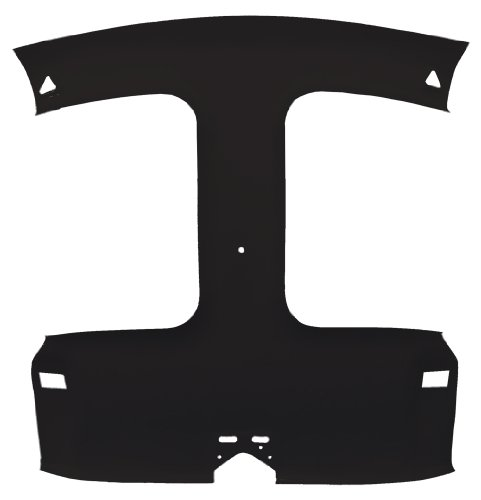 Acme AFH25-FB1559 ABS Plastic Headliner Covered With Black Foambacked Cloth (1995 Camaro Headliner compare prices)