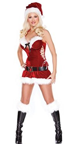 Sexy Playboy Mrs. Claus Santa Suit Costume Size Large