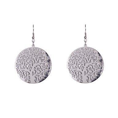 caierd-las-mujeres-la-moda-glitter-dics-con-rama-sellado-pendientes-silver