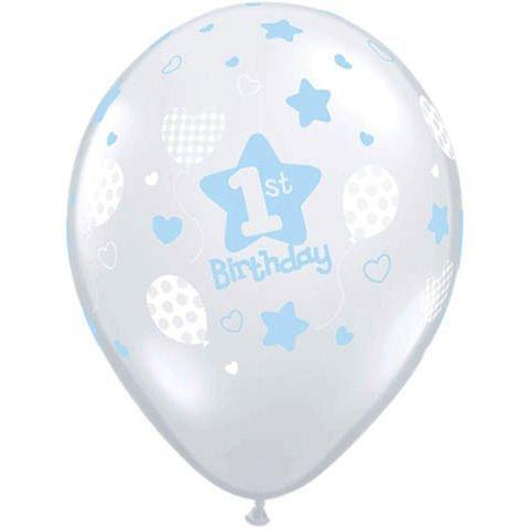 Boys First Birthday Latex Balloons (10) 1st