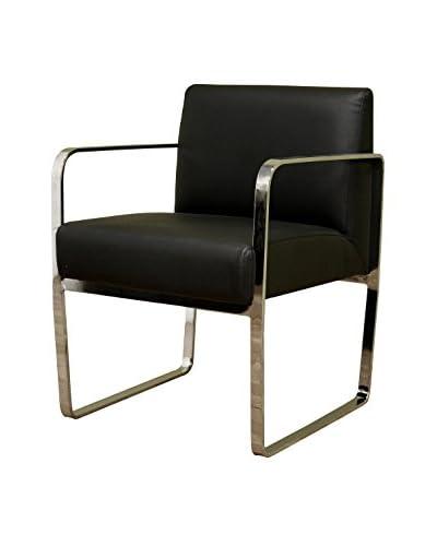 Baxton Studio Esposito Bonded Leather Office Chair, Black