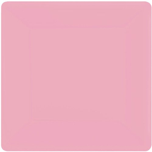New Pink Square Paper Dessert Plates (20ct)