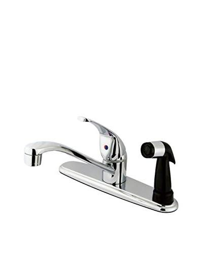 Kingston Brass Centerset Kitchen Faucet With Sprayer, Polished Chrome