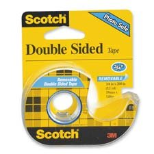 """3M Commercial Office Supply Div. : Double-Sided Tape, Removable, 3/4""""x200"""", Transparent -:- Sold as 2 Packs of - 1 - / - Total of 2 Each"""