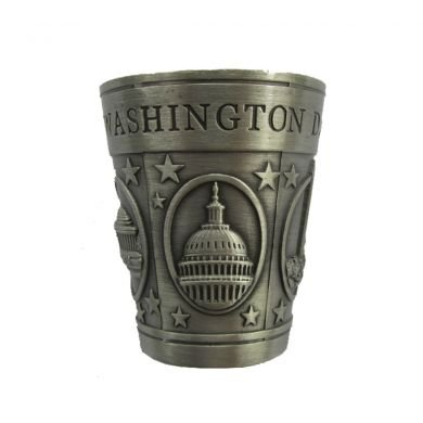 Washington D.C. Pewter Shot Glass