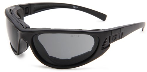 Bobster Echo BECH101 Sport Sunglasses,Black Frame/Smoke & Clear Lens,One Size