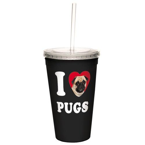 tree-free-greetings-i-heart-pugs-con-pajita-reutilizable-marron-negro