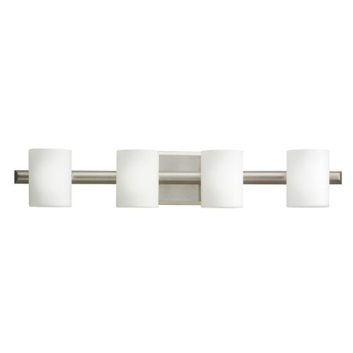 Kichler Lighting 5968NI 4 Light Tubes Bathroom Light, Brushed Nickel