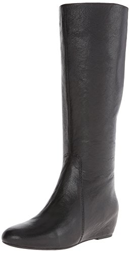 Nine West Women'S Myrtle Leather Riding Boot,Black,5.5 M Us